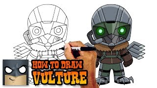 How to Draw Vulture | Spiderman Homecoming