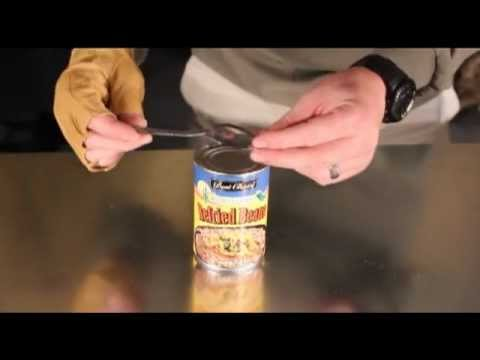 How to open food cans without a can opener!