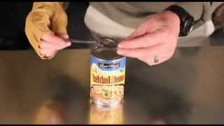Repeat youtube video How to open food cans without a can opener!