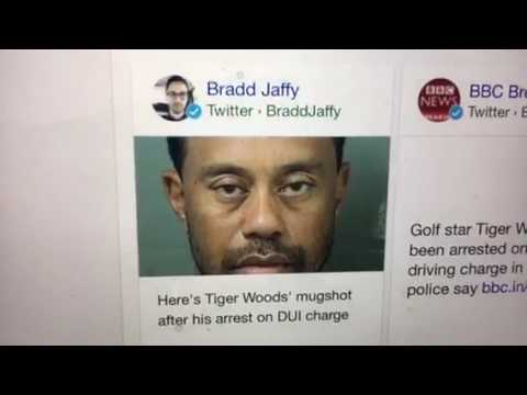 Tiger Woods Arrested For DUI In Jupiter Florida