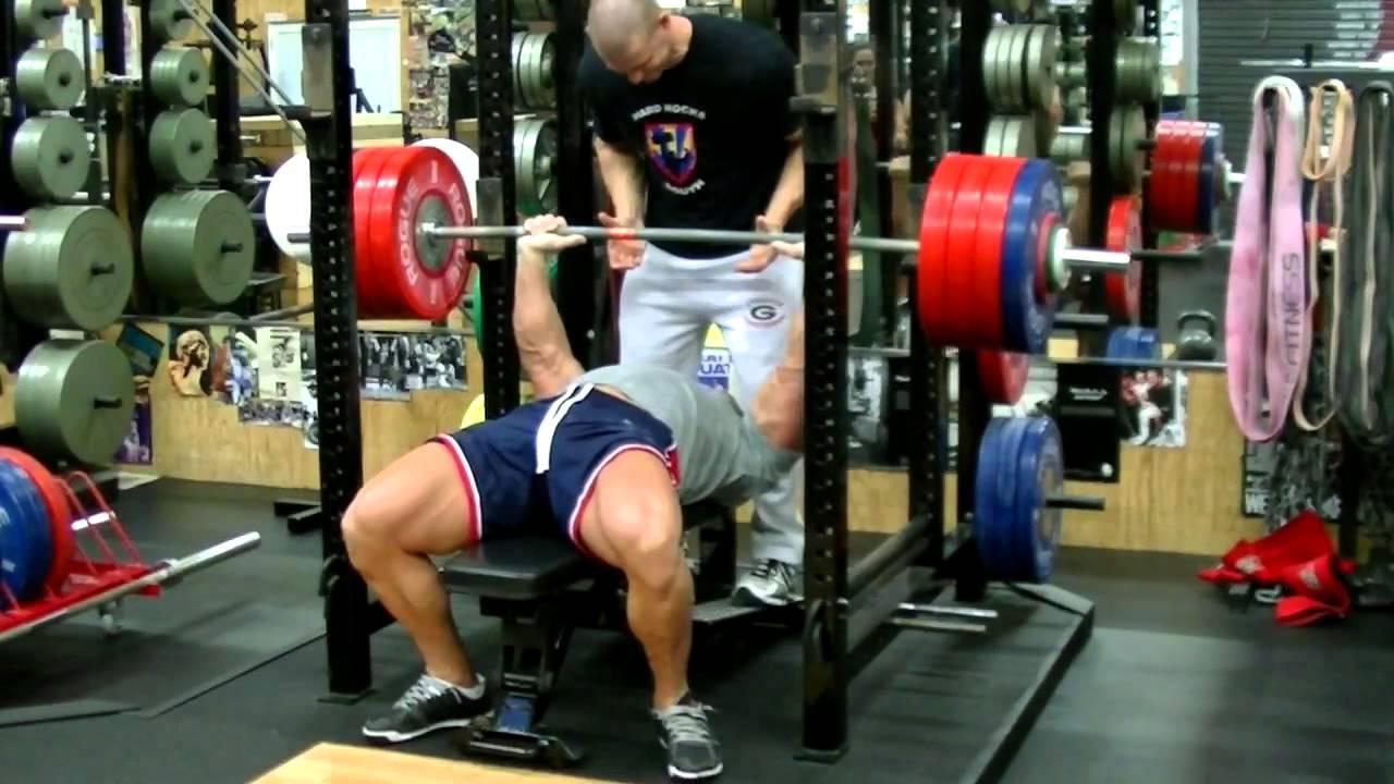 John Cena Raw Bench Press 481 Lbs Youtube