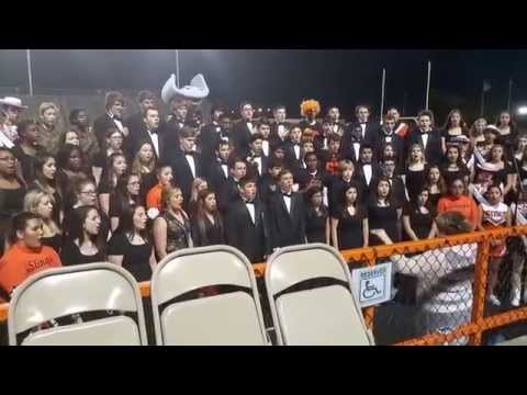 Texas City High School Choir Sings National Anthem