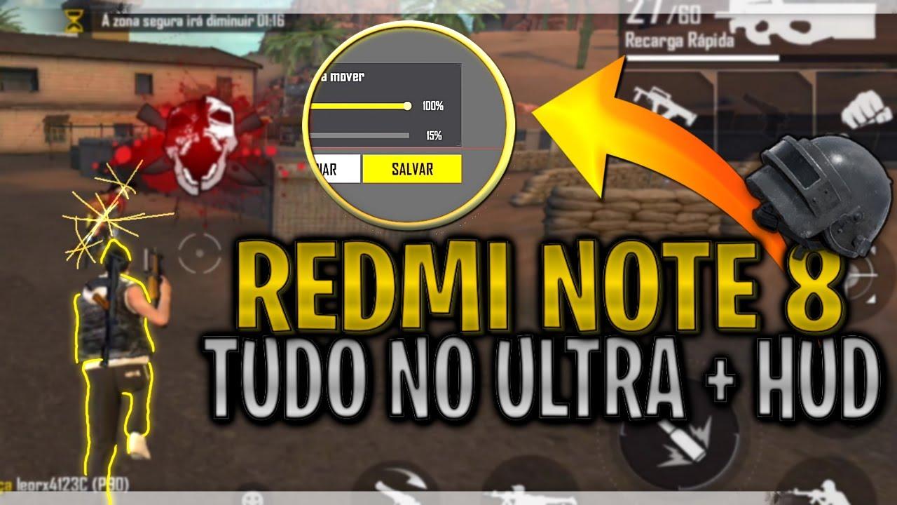 Free Fire Redmi Note 8 Tudo No Ultra Melhor Hud De 2 Dedos Xiaomi Teste De Desempenho Youtube