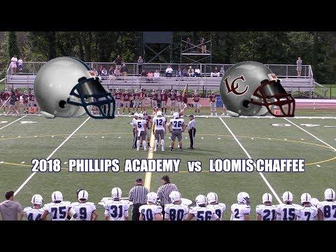 2018 Phillips Academy Andover Football vs Loomis Chaffee