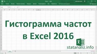 видео Статистический анализ в Excel.