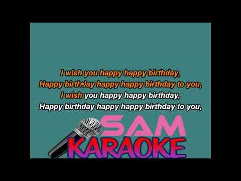 Happy Happy Birthday ( Sonu Nigam )Karaoke Sam Karaoke