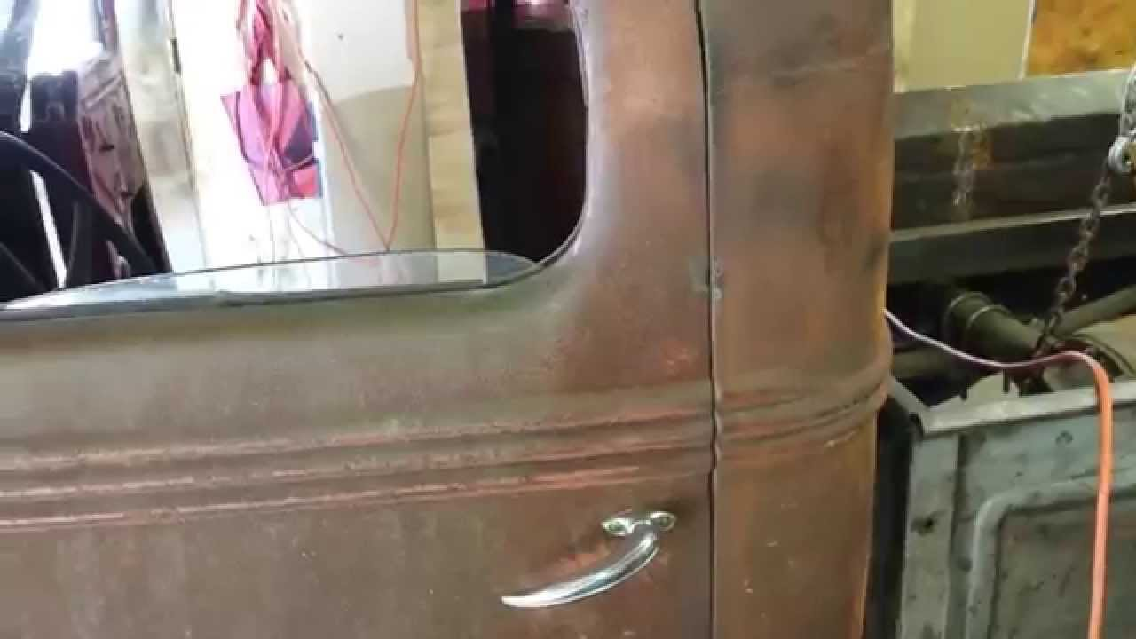 Installed New Bear Claw Door Latch 38 Ford Rat Rod Youtube