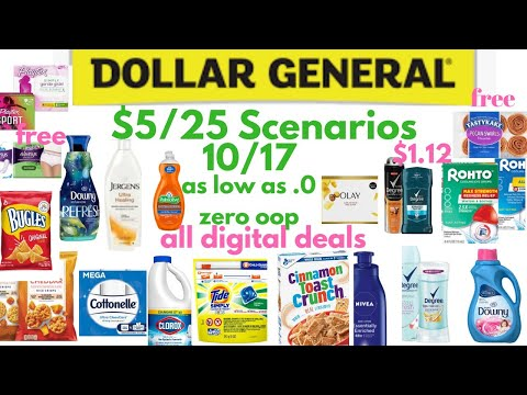 Dollar General $5 Off $25 Scenarios For 10/17. | As Low As Free