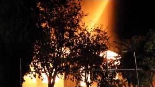 Massive Fire In Modesto, California