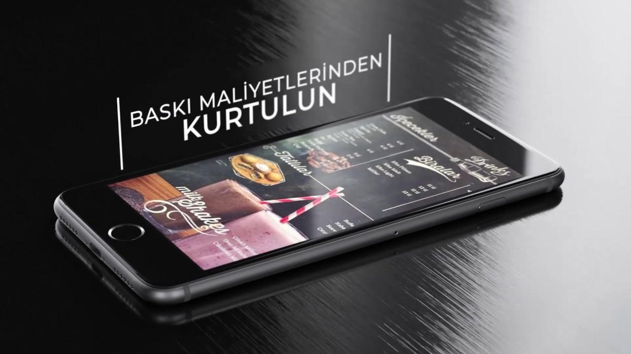 Karekod Menü - Dijital Menü - QR Menü Yeni Nesil Menü - YouTube