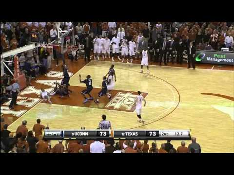 Connecticut Awkward Freethrow and Buzzer Beater Alex Oriakhi Roscoe Smith