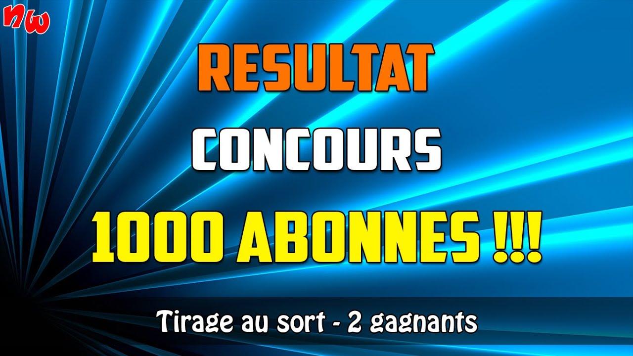 [Concours] Résultat du concours spécial 1000 abonnés ! | Tirage au sort