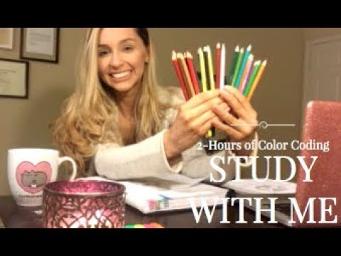 STUDY WITH ME! (2 HOURS / COLOR CODING / WITH MUSIC) | America Revere