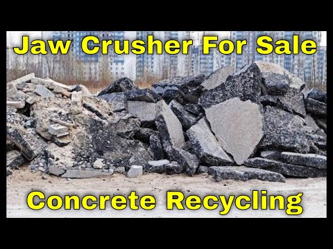 Rock Crusher for sale for Concrete Recycling, Asphalt Recycling, Brick Recycling, Stone and Rock
