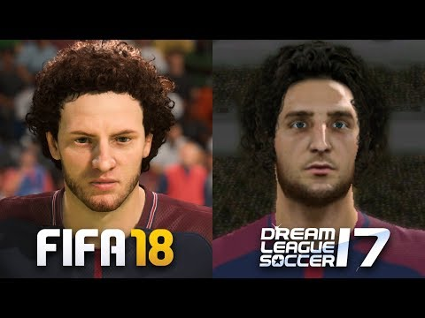 FIFA 18 vs Dream League Soccer 17 | Faces Comparison