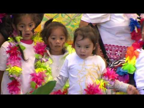 School kids celebrate Samoan Language Week