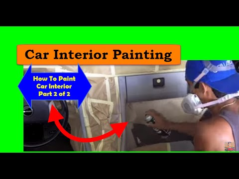 how to paint car interior car interior painting video 2 2. Black Bedroom Furniture Sets. Home Design Ideas