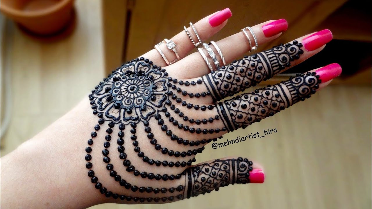Henna Tattoo Designs For Diwali: Diwali Special Famous,easy And Beautiful Jewellery Henna