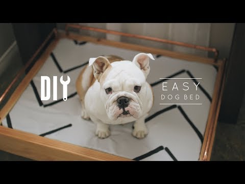 Easy DIY Dog Bed with Copper Accents