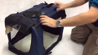 Demonstration Of Vebo Collapsible Fabric Dog Crate (pcr007)