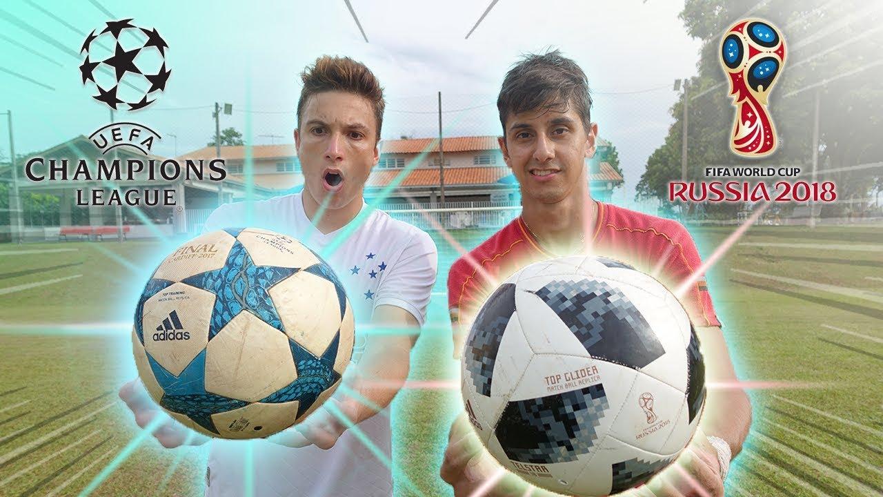 50d98f5bdb BOLA DA COPA DO MUNDO (2018) vs BOLA DA CHAMPIONS!! ( qual é a melhor ! )