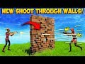 *NEW* SHOOT THROUGH WALLS TRICK! - Fortnite Funny Fails and WTF Moments! #319