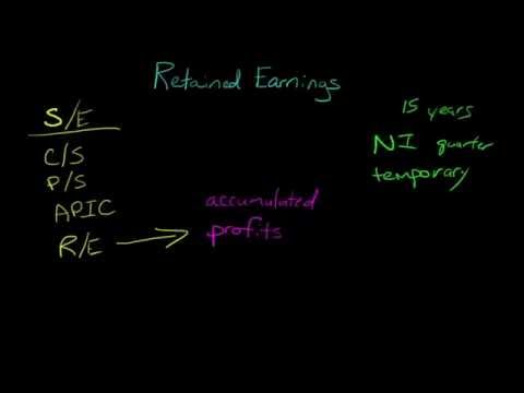 what effects retained earnings