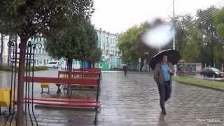 Осень Дождь Гомель Прогулка под дождем  ул Советская Walking in the rain city