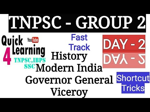 TNPSC History |TNPSC CLASS 2 | Viceroy and Government General|