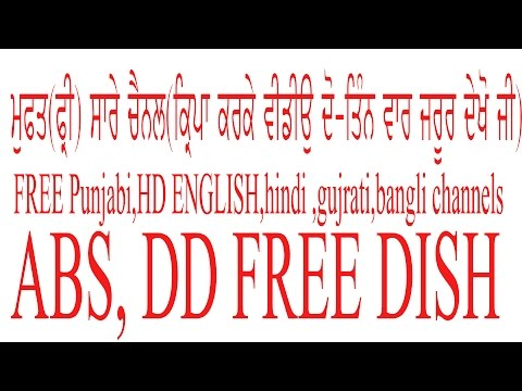 FREE PUNJABI AND HINDI ENTERTAINMENT CHANNELS,How to set up dd free dish,ABS , LNB SWITCH