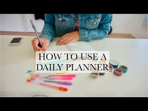 How I Use My Daily Planner + GIVEAWAY