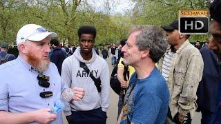 You're  Delusional!? Hamza Vs Atheist | Speakers Corner | Hyde Park