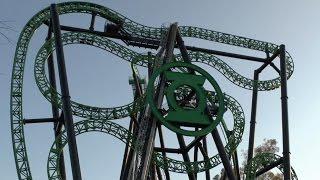 Green Lantern: First Flight (Pivothead POV) - Six Flags Magic Mountain
