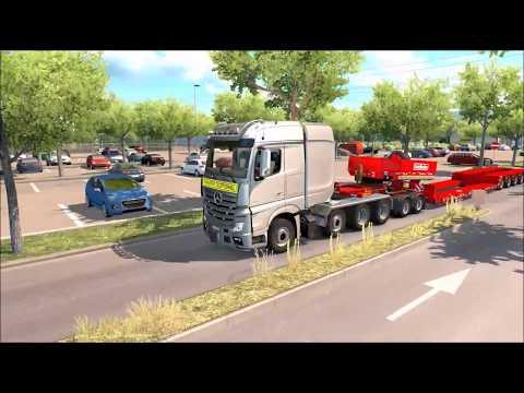 Convoi Exceptionnel + Doly + Liebherr 9150 120T Ets2
