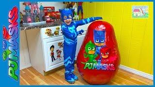 Biggest PJ Masks Egg Surprise Toys Opening Ever with Catboy!