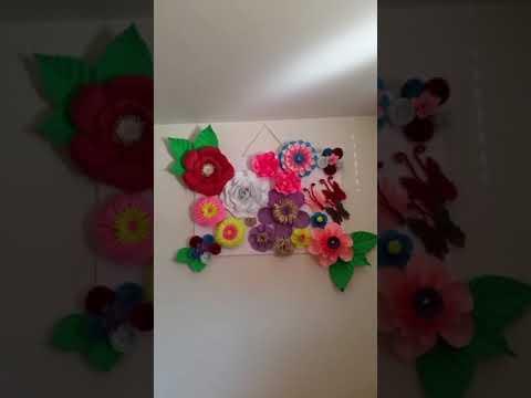 DIY PAPER FLOWER BACKDROP WALL DISPLAY