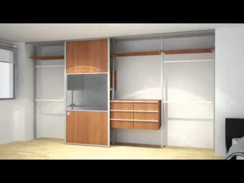Closets modulares orbis home youtube for Working closet modernos