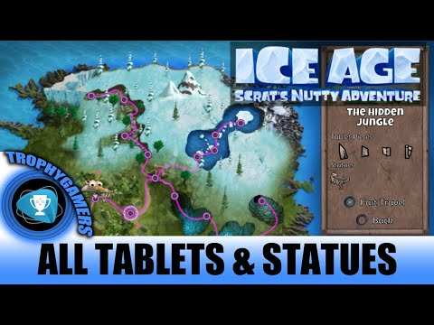 Ice Age Scrat's Nutty Adventure The Hidden Jungle - All Tablet Pieces & Statues Walkthrough Part 13