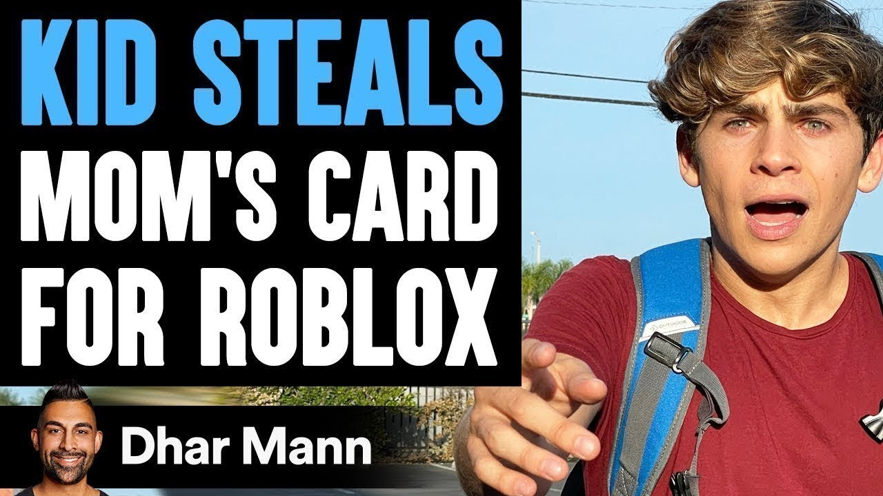 Kid STEALS Mom's Card For ROBLOX, He Instantly Regrets It   Dhar Mann