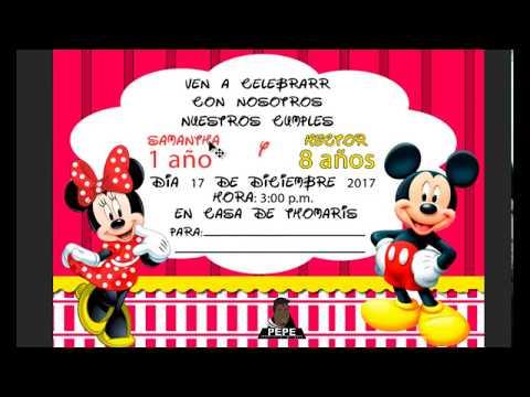 Crear Invitacion De Mickey Mouse En Photoshop 2017