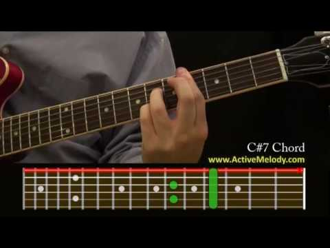 How To Play A C7 Sharp Chord On The Guitar Youtube