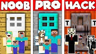 🔥Minecraft - NOOB vs PRO vs HACKER : SECRET BASE FAMILY BATTLE in Minecraft Animation