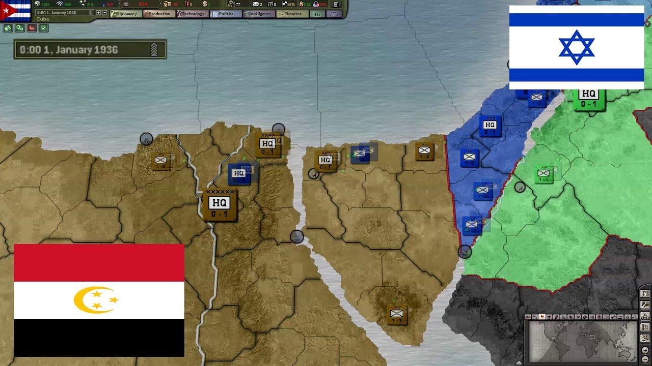 Hearts of iron 3 ncw timelapse 4 egypt vs israel youtube gumiabroncs Choice Image