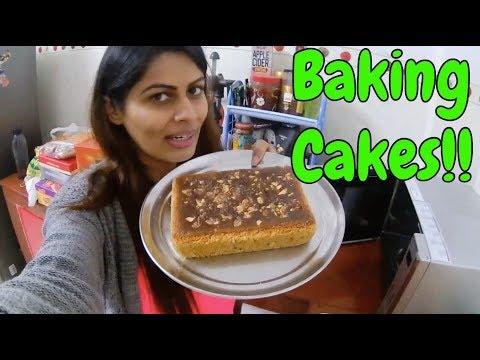 Vlog : Baking Cakes | 28 November 2018 | Kavya K