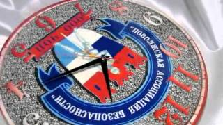 видео часы с логотипом