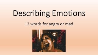 English Lesson - Synonyms for Mad / Angry