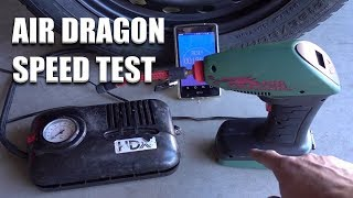 AIR DRAGON tire inflator SPEED TEST - (AS SEEN ON TV)