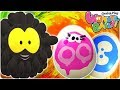 Easter Egg Painting With Squishy Balls | Funny Cartoons For Kids | WonderBalls