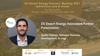 Dii Desert Energy Associated Partner Presentation by Nadim Qubain, Manager BD at ib vogt