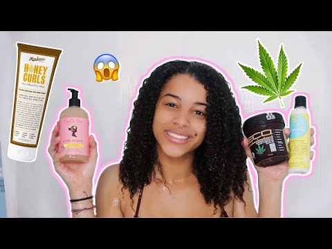 Trying NEW Hair Products On My CURLY Hair!